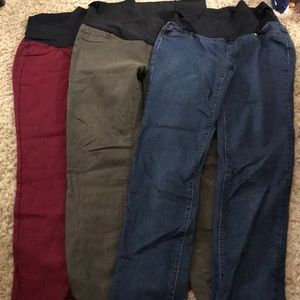 3 pairs Maternity jeggings from Stitch Fix